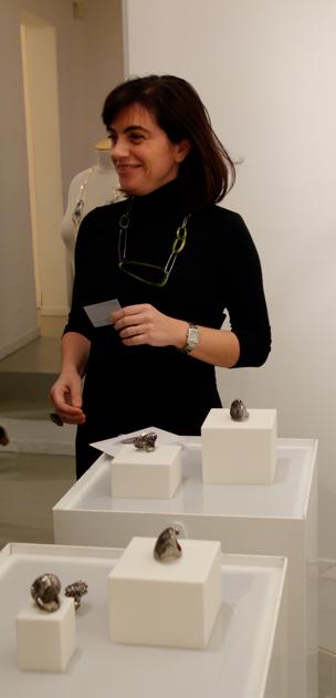 Stefania Lucchetta con la collana verde