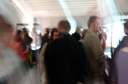Folla al museo