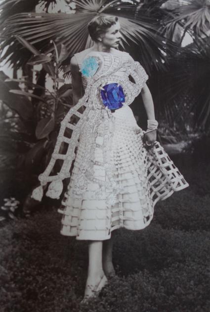 To pursue truth, 2014.  Linder Sterling/Dior (l'abito del 1950)