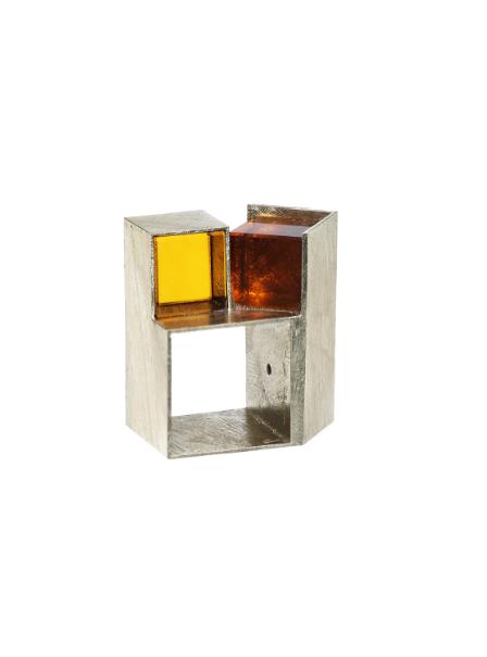 Giampaolo Babetto, anello 1995, oro bianco, vetro