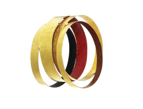 Giampaolo Babetto, bracciale 2012, oro, pigmenti